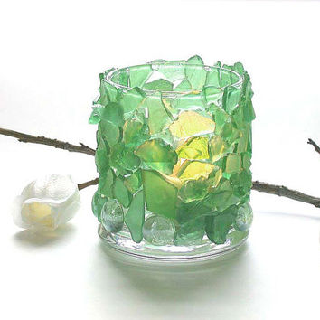 Candle Holder Home Decor Honeydew Glass Candle Holder Table Light Bar Restaurant Light Candle Lantern Outdoor Lighting Wedding Light