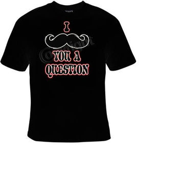 i mustache you a question t-shirt cool funny t-shirts cute gift present humor tee shirts joke