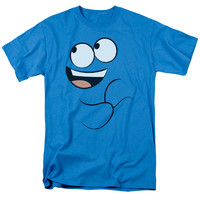 FOSTER'S HOME OF IMAGINARY FRIENDS/BLUE SMILE-S/S ADULT 18/1-TURQUOISE