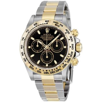 Rolex Cosmograph Daytona Steel and 18K Yellow Gold Oyster Mens Watch 116503BKSO