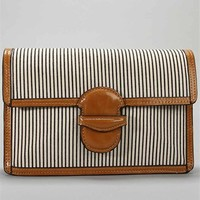 Stripe Canvas Clutch