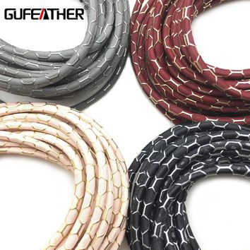GUFEATHER P106/3MM Leather/jewelry accessories/accessories parts/jewelry findings/Jewelry making/diy/leather cord/ 500CM/bag