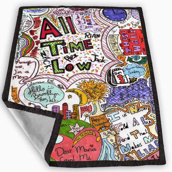 All Time Low Fan Art Blanket for Kids Blanket, Fleece Blanket Cute and Awesome Blanket for your bedding, Blanket fleece *