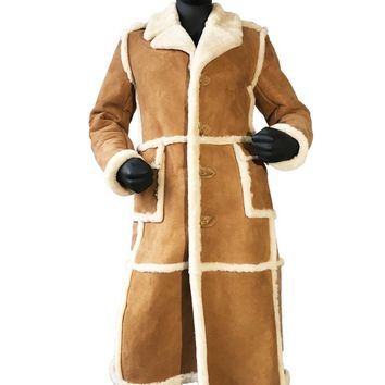 Full Length Sheepskin Coat Style #6000 MENS