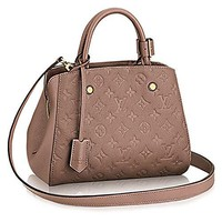Authentic Louis Vuitton Montaigne BB Monogram Empreinte Handbag Article: M50693  Louis Vuitton Handbag
