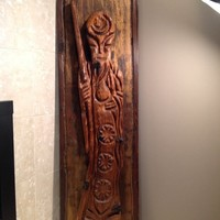 "Vintage Witco Wall Hanging - Tiki Bar - 57"" Tall"