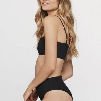 LSpace Ribbed Frenchi Bottom in Black