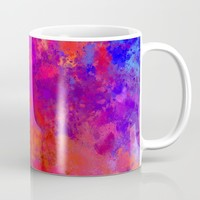 Colorful Splatter Coffee Mug by tmarchev