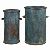 Barnum Tarnished Copper Containers, Set of 2 by Uttermost