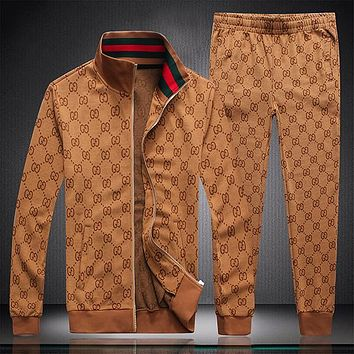 Boys & Men GUCCI Fashion Cardigan Jacket Coat Pants Trousers Set Two-Piece Sportswear