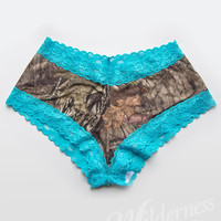 Wilderness Dreams Aqua Lace Trimmed Boy Short