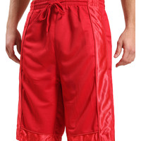 LE3NO Mens Basketball Sport Short Pants with Detail Panels (CLEARANCE)