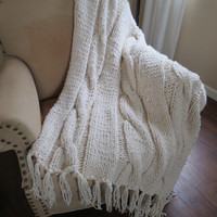 Bulky Throw - Georgia Throw - Knit Blanket Pattern