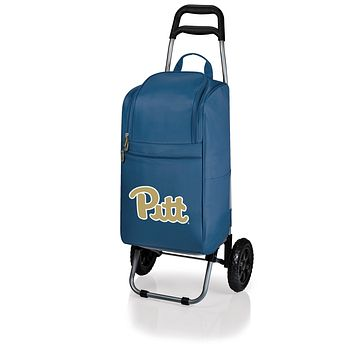 Pittsburgh Panthers Cart Cooler with Trolley-Navy Digital Print