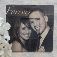 """Personalized Wedding Picture Frame, Unique Custom Engagement Picture Frame, 8"""" x 8"""""""