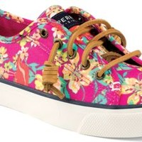 Sperry Top-Sider Seacoast Print Sneaker BrightPinkFlamingoFloral, Size 8.5M  Women's Shoes
