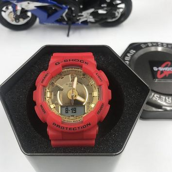 HCXX C010 Casio G-Shock GMA-S130 Protection Steptracker Watches Red Gold
