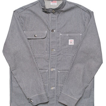 Hickory Stripe Chore Coat - Banded Collar