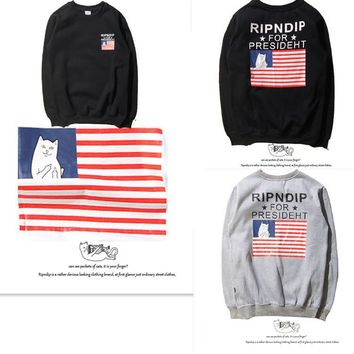 Women & Men RIPNDIP  Round-neck Pullover Couple Hoodies [9273769607]