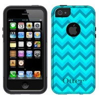 OtterBox Commuter Apple iPhone 5 & iPhone 5S Case - Chevron 2 Tone Turquoise Teal OtterBox Case