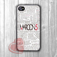 Maroon 5 lyric -JJ for iPhone 6S case, iPhone 5s case, iPhone 6 case, iPhone 4S, Samsung S6 Edge