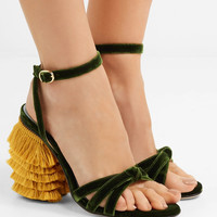 MR by Man Repeller - Jingling fringed velvet sandals