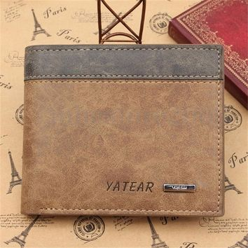 2018 New Fashion Mens Designer Brown Leather Wallet Luxury Credit Card Holder Bifold Purse HoT sale