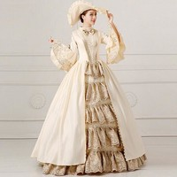 Womens Deluxe Medieval Gown Tudor Fancy Dress