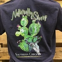 Southern Chics Naturally Sharp Cactus Girlie Bright T Shirt