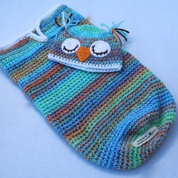 Baby Cocoon - Sleeping Owl - Blue Multi