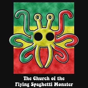 'Pastafarian -- The Church of the Flying Spaghetti Monster' T-Shirt by Samuel Sheats