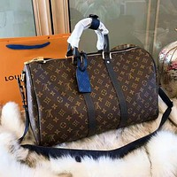 LV High Quality Trending Women Stylish Monogram Leather  Handbag Tote Luggage Bag Travel Bag