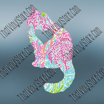 Preppy Cat Heart Love Decal | Longhair Cat Decal | Purebred Decal | Preppy Purebred | Preppy Animal Decal | Love Animal Decal | 566