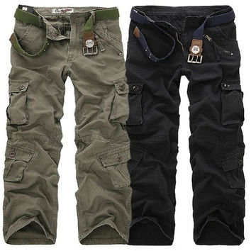 Men overalls loose big size outdoor fashion leisure male trousers male pants (size: 28,29,30,31,32,33,34,36,38) [9210700611]