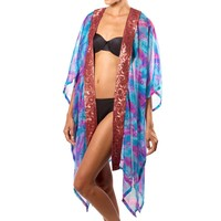Blue and Pink Beach Robe