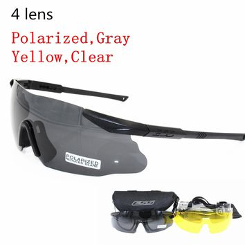 ICE Brand Men Sunglasses Military Polarized 3/5 Lens Safety Glasses Tactical Army Goggles Outdoor Hunting Combat Wargame