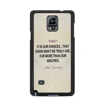 Harry Potter - Albus Dumbledore Quote Samsung Galaxy Note 3 | 4 Cover Cases
