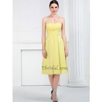 Gorgeous A-Line Halter Knee-Length Chiffon Prom Dress SAL1020