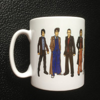 Dr. Who Mug with all Eleven Doctors 50th Anniversary Special