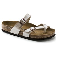 Women's Mayari Sandal in Graceful Pearl White by Birkenstock