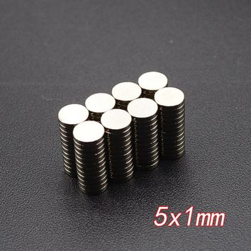 20pcs Neodymium Disc Magnets 5x1 mm N35 Super Strong Powerful Rare Earth 5mm x 1mm Small Round Magnet