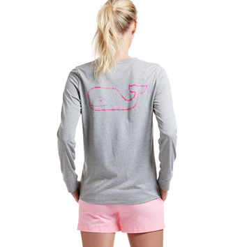 Long-Sleeve Heather Vintage Whale Performance Tee