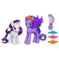 MY LITTLE PONY PRINCESS LUNA & RARITY Figures | Pet Figures for ages 3 YEARS & UP | Hasbro