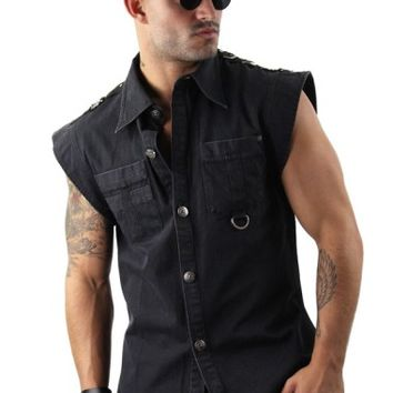 Sleeveless Collared Shirt