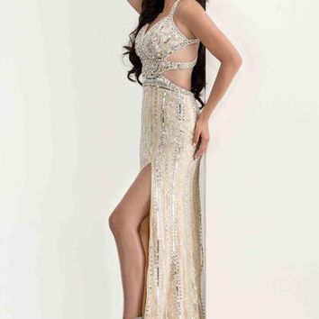 Jasz Couture Lace Beaded Dress 5819