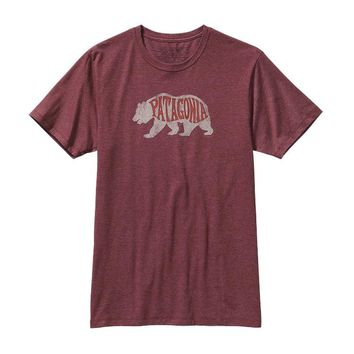 Patagonia Men's Bear Heaven Cotton/Poly T-Shirt | Oxblood Red
