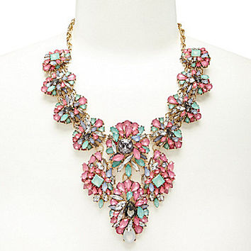 Natasha Multi Stones Statement Necklace - Multi