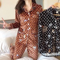 LV Fashion Woman Girld More Print Pajamas Louis vuitton leisure wear two piece