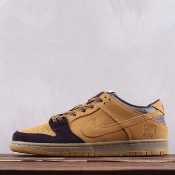 N337 Nike SB Dunk Low PRO Lewis Forever Skate Shoes Wheat
