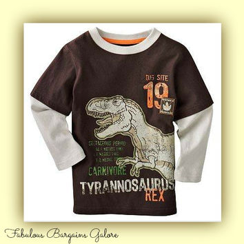 Long Sleeved Dinosaur Top